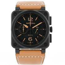 Bell & Ross Ceramic Automatic Black 42mm new BR 03-94 Chronographe