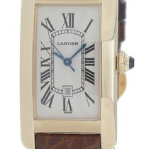 Cartier Tank Américaine pre-owned 41mm White Date Leather