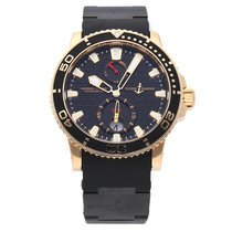 Ulysse Nardin Maxi Marine Diver Rose gold 42.7mm Black No numerals