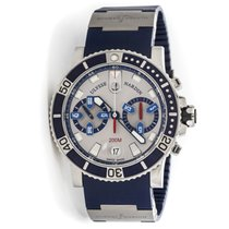 Ulysse Nardin pre-owned Automatic 42.7mm Silver Sapphire Glass 20 ATM