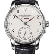 Moritz Grossmann Ouro branco 41mm Corda manual MG 000461 novo