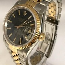 Rolex Datejust 2 Tone 36mm 16013 Black Stick Dial