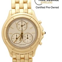 Cartier Cougar 18K Yellow Gold Chronograph 11621 33mm Watch