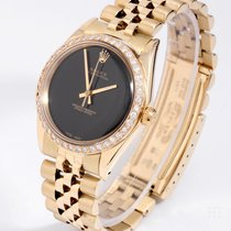 Rolex 1008 Yellow Gold Oyster Perpetual Black / Onyx Dial