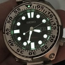 Seiko Sawtooth Diver 200m Tuna SR920 SB-AN Black Dial Day Date...