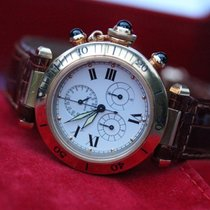 Cartier Quartz-Chronoreflexwerk, ewiger Kalender, in 18k Gold