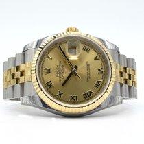 Rolex Datejust Men's 2 Tone 116233 Fluted Bezel Champagne Dial