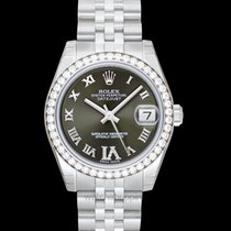 Rolex White gold Automatic Green 31mm new Lady-Datejust