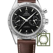 Omega Speedmaster 57 Co-Axial Stainless Steel Brown strap