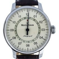 Meistersinger 43mm Automatic pre-owned Perigraph Champagne