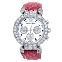 Harry Winston Premier pre-owned 32mm Mother of pearl Chronograph Leather