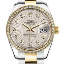 Rolex Lady-Datejust Zlato/Zeljezo 26mm Srebro Bez brojeva