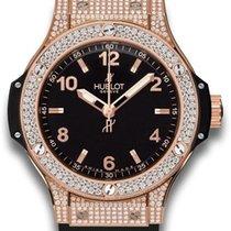 Hublot Big Bang 38 mm Ruzicasto zlato 38mm Crn Arapski brojevi