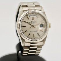 Rolex Day-Date 36 usato 36mm Argento Data Oro bianco
