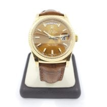 Rolex Yellow gold Automatic Brown No numerals 36mm pre-owned Day-Date 36