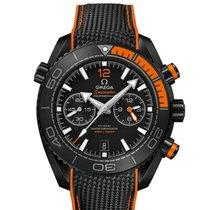 Omega Céramique Remontage automatique Noir Sans chiffres 45.5mm nouveau Seamaster Planet Ocean Chronograph