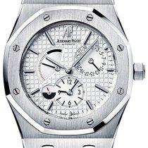 Audemars Piguet Royal Oak Dual Time Steel 39mm White No numerals