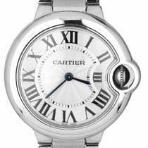 Cartier Ballon Bleu 33mm Stal 33mm Srebrny Rzymskie