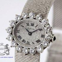 DeLaneau Ladies Watch solid 18K White Gold 2.4ct Diamond Bezel