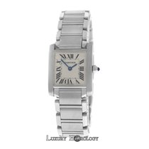 Cartier Authentic Ladies  Tank Francaise 2384 Stainless Steel