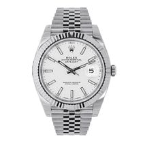 Rolex Datejust 41 Steel & White Gold White Dial Jubilee 126334