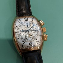 Franck Muller Rose gold Automatic Silver Arabic numerals 56mm pre-owned Cintrée Curvex