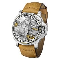 Panerai Special Editions Steel 44mm Silver United States of America, Connecticut, Greenwich