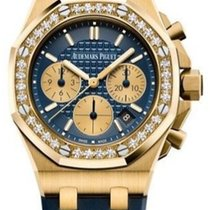 Audemars Piguet Royal Oak Offshore Lady Or jaune 37mm Bleu