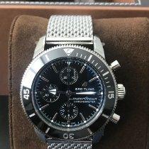 Breitling Superocean Héritage II Chronographe Сталь 44mm Чёрный