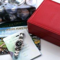 Rolex Oyster Perpetual Date Aço 24mm Preto