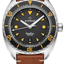 Eterna Steel 45mm Automatic 1273.41.49.1363 new