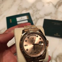 Rolex Day-Date II Or rose 41mm Romain