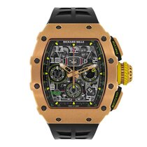 Richard Mille new Automatic 49.94mm Rose gold Sapphire Glass