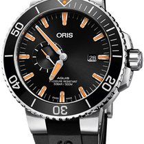 Oris Aquis Small Second new Automatic Watch with original box 74377334159RS