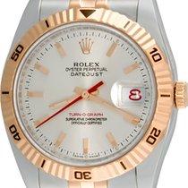 Rolex Datejust Turn-O-Graph Stahl 36mm Silber Keine Ziffern