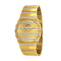 Piaget Yellow gold Quartz Gold No numerals 34mm pre-owned Polo