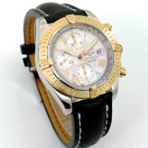 Breitling Chronomat Evolution Gold/Steel 44mm White Roman numerals