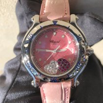 Chopard Happy Sport Staal 35mm Roze Geen cijfers