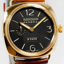 Panerai Rose gold Manual winding Black Arabic numerals 45mm pre-owned Radiomir 8 Days