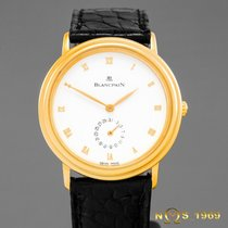 Blancpain Villeret Yellow gold 34  case excluding crownmm White Roman numerals