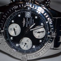 Breitling Chrono Cockpit Steel 39mm Black No numerals United States of America, New York, Greenvale