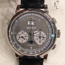 A. Lange & Söhne White gold Manual winding Silver 41mm new Datograph