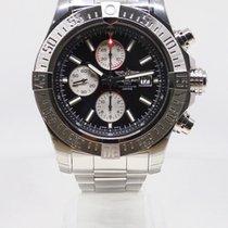 Breitling Super Avenger II Steel 48mm Black No numerals