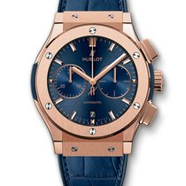 Hublot Classic Fusion 45mm · Blue Chronograph King Gold...