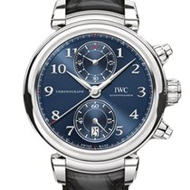 IWC Da Vinci Chronograph Сталь 42mm Синий