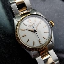 Rolex Vintage 1952 Oyster Perpetual 30mm 6548 14k Rose Gold SS...