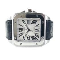 Cartier Santos 100 Steel Roman numerals