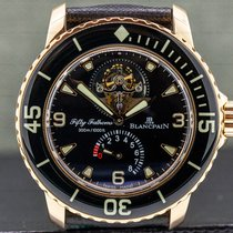 Blancpain Fifty Fathoms Rose gold 45mm Black Arabic numerals