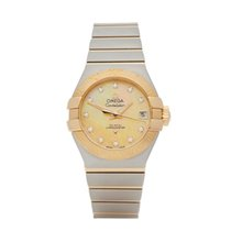 Omega Constellation Ladies Gold/Steel 28mm Mother of pearl