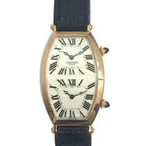 Cartier Rose gold 28mm Manual winding cartier tonneau dual time pre-owned
